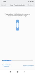 Xiaomi Mi Band 4 Vibrationsmuster