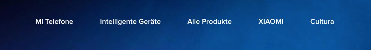 Xiaomi Mi Deutschland Menü