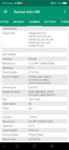 ZTE Axon 10 Pro Camera Sensors